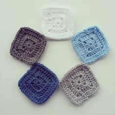 From The Patchwork Heart Instagram : Colour Recipe ~ Stylecraft Special DK in denim cloud blue silver grey and white