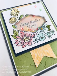Accented blooms, shaker card