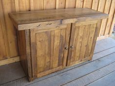 Reclaimed Wormy Chestnut Stand