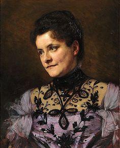 Bertha Wegmann: Portrait of Johanne Bojesen.