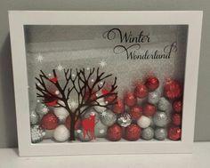 Winter wonderland shadow box