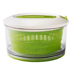 עם מייבש החסה החדש של Chef'n הירוקים שלכם יגיעו בקלות לרמת נקיון חדשה מסתובב בקלות ומייבש חסה ותבלינים טריים הידית חזקה ,חכמה יותר וננעלת לאחסון בטוח לשטיפה במדיח