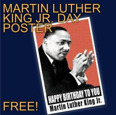 Celebrate Martin Luther King Day with this poster recognizing Dr. King on his special day. Poster can be scaled down to x History Lesson Plans, Social Studies Lesson Plans, Teaching American History, Teaching History, Teaching Government, Hispanic Heritage Month, Martin Luther King Day, Poster, Free