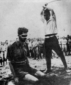 Austrailian POW Leonard Sifleet is executed by a Japanese soldier, World War II. This picture disturbs me so much but I have to pin it in the interest of preserving the history of the POWs of the Pacific Theatre during WWII. My grandfather was one of these POWs and died because of his treatment.