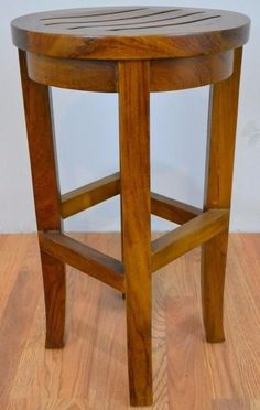 Veranda Round Counter Stool or Chair from Solid Teak Wood