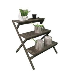 Shop for Renaissance Eco-friendly Hand-scraped Hardwood Three-Layer Garden Planter Stand and more for everyday discount prices at Overstock.com - Your Online Garden & Patio Store!