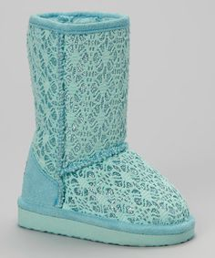 This Teal Glitter Lace Betty Boot by Ositos Shoes is perfect! #zulilyfinds in all the colors