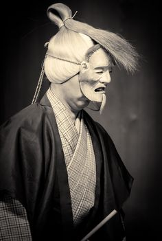 Noh performer photographed by Stéphane Barbery
