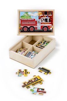 Melissa & Doug Vehicles Jigsaw Puzzles in a Box