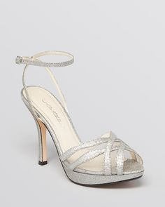Caparros Open Toe Platform Evening Sandals - Lynne High Heel. They named a shoe after me, but it's taller than my comfortable walking zone. Alas! And I do need some shoes like this for this summer's round of weddings ...