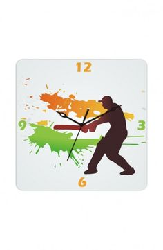 The spirit of Indian Cricket, now available in clock form.     This clock is available on http://www.gloob.in/cricket.html    Gloob  wall clocks are unique designer clocks crafted to make your interiors race ahead of time. The clock frame made out of light weight wood livens your spaces to give it an elegant feel.    Buy or gift these designer clocks as a cherishable festive gift for friends and family.