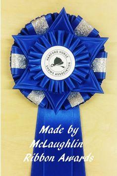 Award Ribbon Professionals - McLaughlin Ribbon Awards creates custom award ribbons, champion rosette award ribbons, neck sashes, sashes, and custom badges & buttons. Horse Show Ribbons, Custom Awards, Custom Badges, Ribbon Rosettes, Sash, Champion, Glitter, Baby Shower, Create