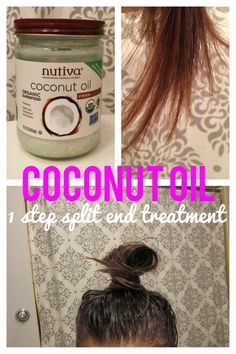 DIY Coconut Oil Hair Mask Tutorial! Leave in treatment for 1 hour or overnight. 1 ingredient only, simplest tutorial out there. Controls heat and color damage, Maintains strong locks, Mends split ends, Tames frizz, Nourishes dryness, Promotes hair growth, Prevents hair loss, Fights dandruff, Obstructs dullness, Heals sulfate allergic reactions.