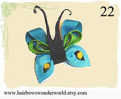 ribbon butterfly tutorial    This sites has so many ribbon sculptures & bow ideas!  incredible!