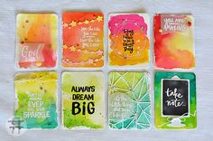 reverse confetti - watercolors, stamps, and embossing