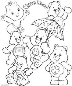 300 Best Care Bears Coloring Pages Images Care Bears Coloring