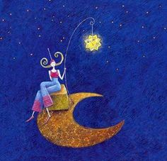 "Photo from album ""Gaelle Boissonnard"" on Yandex. Marie Cardouat, Art Carte, Sun And Stars, Art Et Illustration, Art Moderne, Moon Art, Marquis, Moon Child, Art Journal Inspiration"