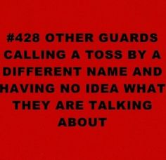 Only the color guard understands