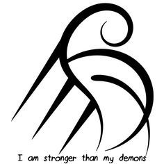 """I am stronger than my demons"" sigil It's been a while since I've made a sigil for myself. I thought you guys might like to fight your demons too, whatever they might be. >>> Idea for the tattoos? See the board Emblems and Signs for Wiccan Symbols, Magic Symbols, Symbols And Meanings, Celtic Symbols, Ancient Symbols, Egyptian Symbols, Cherokee Symbols, Body Art Tattoos, Small Tattoos"