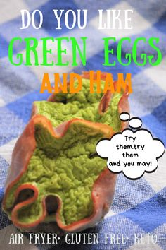 Green Eggs and Ham Cups Fun and savory, these bite-size tributes to Dr. Seuss's book, Green Eggs and Ham are the perfect finger food for breakfast or snack time. Make a bunch and heat them up whenever you need a dose of Seussical fun Ham Breakfast, Breakfast Appetizers, Breakfast Recipes, Breakfast Sandwiches, Celiac Recipes, Cooking Recipes, Cooking Ideas, Unique Recipes, Ethnic Recipes