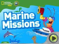 "Free app from National Geographic Kids teaches children about ocean animals and the importance of water conservation in a fun and interactive adventure game. Help Jacques on his mission to clean up the world's ocean! • Travel the world to clean up polluted spots. • Save Jacques' tools from a whirlpool, scurry past blowholes, and surf up tidal bores! • Build your own unique creatures in the Creature Builder, and learn about real-life animals with the ""WhatsIt Wand."""