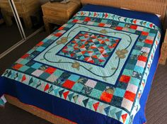 Medallion Quilt for Neal and Helena Medallion Quilt, Quilts, Blanket, How To Make, Quilt Sets, Quilt, Rug, Log Cabin Quilts, Blankets