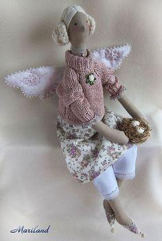 Куклы Тильды ручной работы. Ярмарка Мастеров - ручная работа Оулу. Ангел уютного гнёздышка. Handmade.