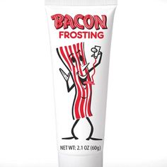 Bacon frosting. . . Not sure what to think about this haha