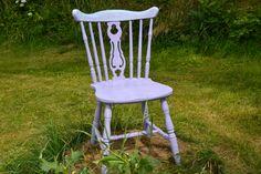 Stol malt i Amethyst fra Vintro Chalk Paint
