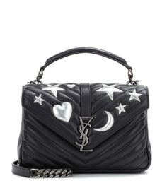 SAINT LAURENT Classic Medium Collège Monogram embellished leather shoulder bag
