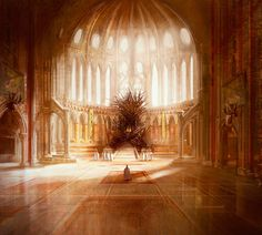 A Song of Ice and Fire/Game of Thrones Iron Throne artwork by Marc Simonetti