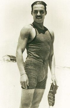 Rudolph Valentino At The Beach