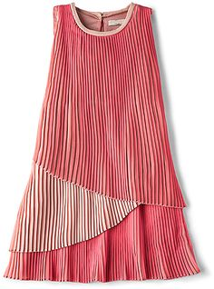 Stella McCartney Sasha Girls Layered Dress in Pink