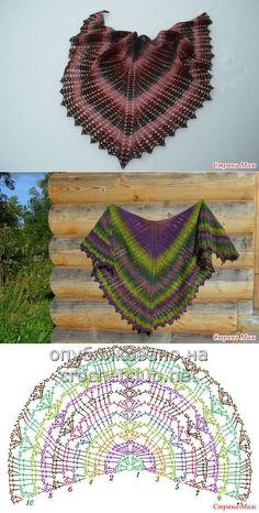 Shawl con punte (pattern disegno)