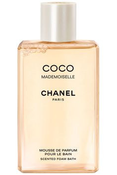 For a bath worthy of Marie Antoinette, pour a capful of these luxurious floral bubbles in.  Chanel Coco Mademoiselle Scented Foam Bath, $90, chanel.com.   - HarpersBAZAAR.com