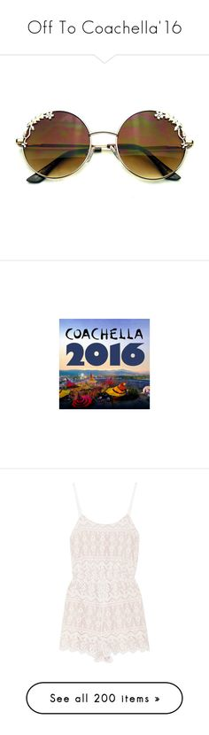 """""""Off To Coachella'16"""" by styleskater7 ❤ liked on Polyvore featuring coachella, Packandgo, accessories, eyewear, sunglasses, glasses, sunglasses/glasses, round metal sunglasses, round sunglasses and mirror glasses"""