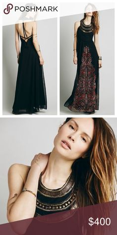 ❤️️COMING SOON❤️️ Free People Demeter metal bib dress small 2. Hopefully I can get around to taking some pics tomorrow. Dress is brand new, with tags, never worn. I bought last year, and it's a tad too small now  Free People Dresses Maxi