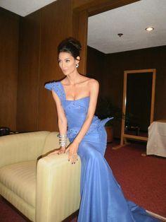 Asias's Next Top Model Mentor Joey Mead King wearing GAKUYA by Kim Gan