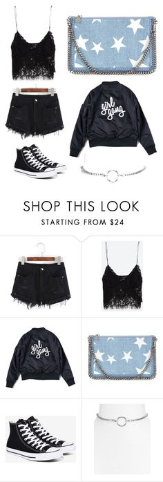 """Girl Gang "" by florencedriver on Polyvore featuring Zara, STELLA McCARTNEY, Converse and Vanessa Mooney"