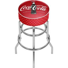 "Officially Licensed - Coca-Cola® Padded Bar Stool - 100th Anniversary - 30"" Base 