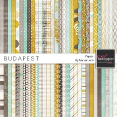 Budapest Papers Kit Scrapbooking Layouts, Flatware, Place Settings, Shun Cutlery, Scrapbook Layouts, Scrapbooking Ideas, Scrapbook Page Layouts, Dinnerware, Table Place Settings