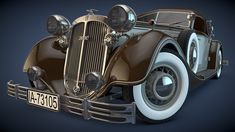 1937 Horch 853A Sport Cabrio by SamCurry