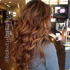 Brunette Caramel Balayage over natural level 4 hair