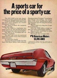 A sports car for the price of a sporty car.