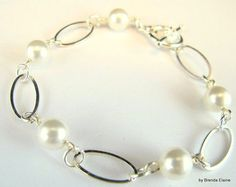 Contemporary Swarovski Pearl Bracelet | byBrendaElaine - Jewelry on ArtFire