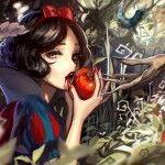 15 Times Anime Style Artists Made Disney Characters Kawaii as F*ck - Part 2 - CLS Dark Disney, Snow White Disney, Disney Love, Disney Style, Brown Eyes Black Hair, Black Hair Bows, Anime Snow, Disney Princess Art, Evil Princess