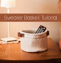Sweater Basket Sewing Tutorial. #PeekabooPages