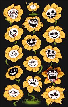 Undertale fan art flowey the flower Undertale Flowey, Undertale Memes, Undertale Drawings, Undertale Fanart, Undertale Comic, Frisk, Flowey La Flor, Fan Art, Drawing Tips