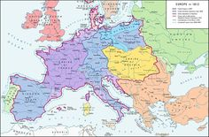 A map of Europe in 1812, at the height of the Napoleonic wars. | 32 Maps Which Will Change How You See Europe