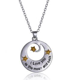 I Love You to the Moon and Back Necklace from Rana Jabero